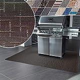 Tappeti Vinile Protettivi - Tappeto per Barbecue con Design Antimacchia, Ignifugo - Tappeto Salvapavimento Multifuzione, Interno, Esterno - 17 tonalità e 3 Misure - 90x180 cm - Ferrara
