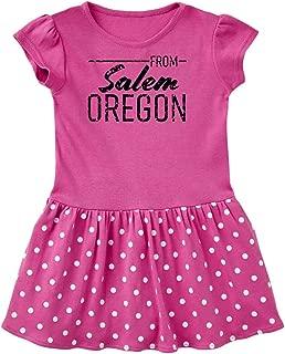 inktastic from Salem Oregon in Black Distressed Text Toddler Dress