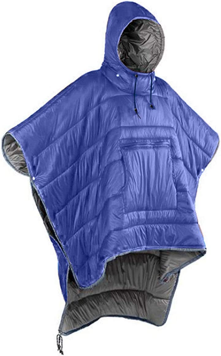Gaorui Winter Poncho Coat Outdoor Camping Warmth Small Quilt Blanket Water-resisitant Sleeping Bag Cloak Cape with Hat for Adult Men Women /…