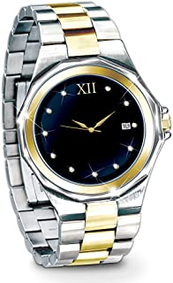 Timeless Love Stainless Steel Men's Watch: Romantic Jewelry Gift for Him by The Bradford Exchange