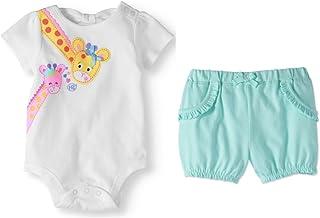2f767a3725bef Garanimals Baby Girl Graphic CAMI Bodysuit Whit Shorts, Set of 2, Size 12M(