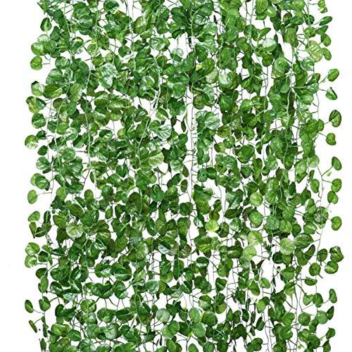 BESPORTBLE 18St Kunstmatige Wijnstokken Planten Decor Nep Klimplant Klimop Krans Voor Trap Hek Huis Tuin