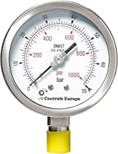 PI Controls UK Pressure Gauge, PG-100-R70-WF-SS