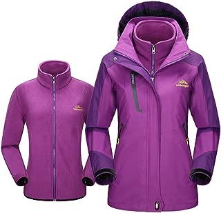Womens Hooded Convertible Fleec Outdoor Sport Windproof Jacket
