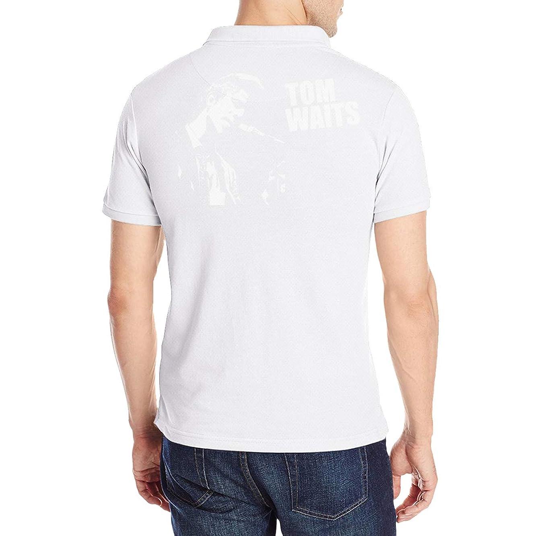 霧深い韻つかむTom Waits トム?ウェイツ ポロシャツ メンズシャツ 半袖 無地 スリムフィット 通気性 薄手 スキッパー Tシャツ ゴルフシャツ カットソー アウトドア シンプル 春夏季対応トップス Polo Shirts