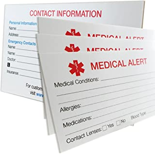 My Identity Doctor - 3 MyIDCards Medical Alert ID Thick 400lb Card Stock - Made in USA