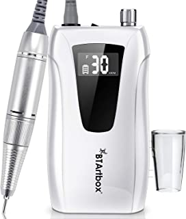 Professional Portable 30000RPM Nail Drill - Electric Nail Drills for Acrylic Nails BTArtbox Rechargeable Nail Drill Machine Efile Nail Drill, Gift for Women Home and Salon Use