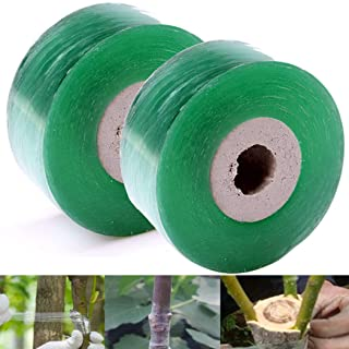 """IronBuddy 2 Pack Nursery Grafting Tapes 1.57"""" x 328' Stretchable Bio-degradable Self-Adhesive Plant Repair Tape Grafting Film for Garden Plant Fruit Trees Seeding"""