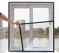 Loboo Idea Glasvezel raamgaas gordijn, doe-het-zelf zelfklevend venster net scherm met haak en kleverige tape, gemonteerd ...