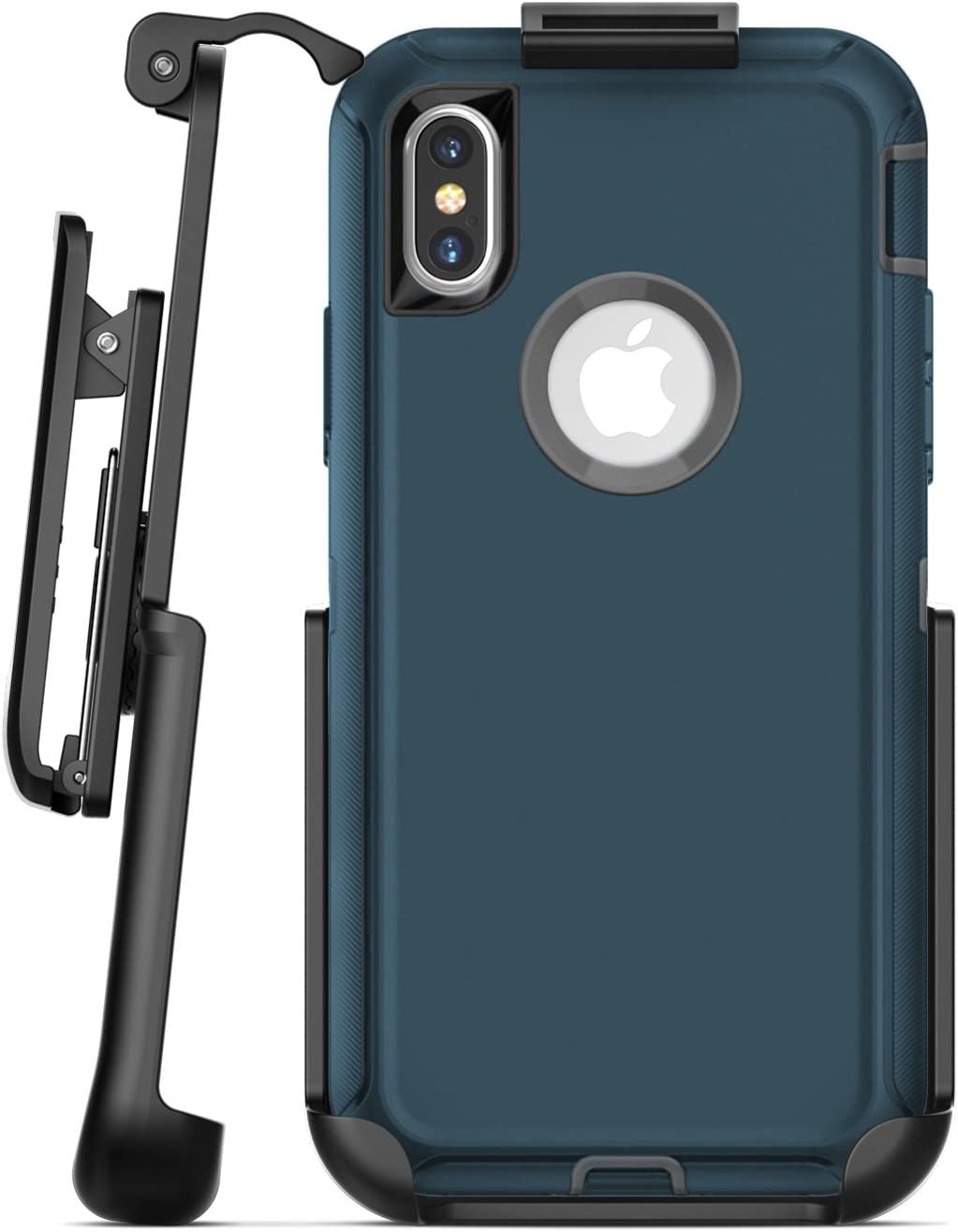 Replacement Belt Clip for Otterbox Defender Case - iPhone X/iPhone Xs (case not Included) Encased Secure-fit Rubberized Holster (Matte Black)