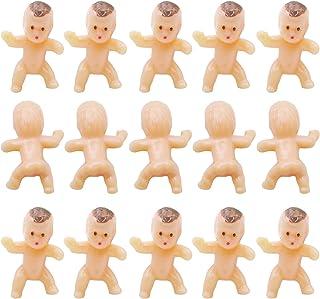 120 قطعة 1 بوصة صغيرة من البلاستيك بيبي بيبي دمية صغيرة للحفلات لحفلات استحمام الطفل، لعبة مكعبات الثلج، ديكور الحفلات