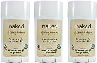North Coast Organics - All Natural Deodorant Naked (Pack of 3)
