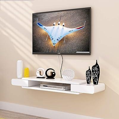 XUQIANG Mueble de televisión de pared Estante para televisor Estante para televisor estante para televisor Unidad de almacenamiento para consola de almacenamiento Estante para almacenamiento Estante f: Amazon.es: Hogar