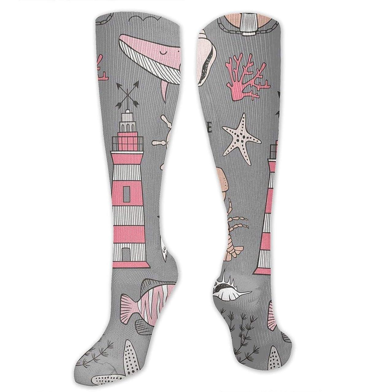 護衛不純情報靴下,ストッキング,野生のジョーカー,実際,秋の本質,冬必須,サマーウェア&RBXAA Whale,Lighthouse,Anchor Socks Women's Winter Cotton Long Tube Socks Cotton Solid & Patterned Dress Socks