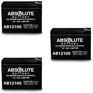 3PK 12V 10AH Replacement for Bladez Ion 450 Scooter Battery MK Battery ES10-12S