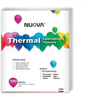"Nuova Premium bolsas térmicas, 9"" x 11.5""/tamaño carta/3mil, 200Pack (lp200h)"