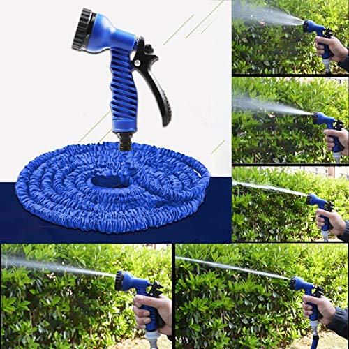 Lavado de coches Peishi durable flexible de doble capa de agua de la manguera de pipa de agua, longitud: 5.7m-15m (US Standard) (Azul) disponible
