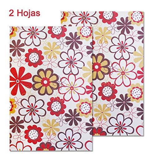 Starplast, Decorated Foam Sheets, van bloemen, 20 cm x 30 cm, A4, voor decoratie, ontwerpen en ambachten, harten stempelen flowers sizes
