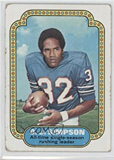 O.J. Simpson COMC REVIEWED Poor (Football Card) 1974 Topps #1