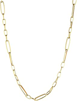 Roberto Coin 18K Alternating Rectangle Link Chain Necklace