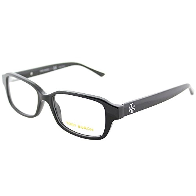 Tory Burch TY 2070 1377 Black Plastic Rectangle Eyeglasses 50mm
