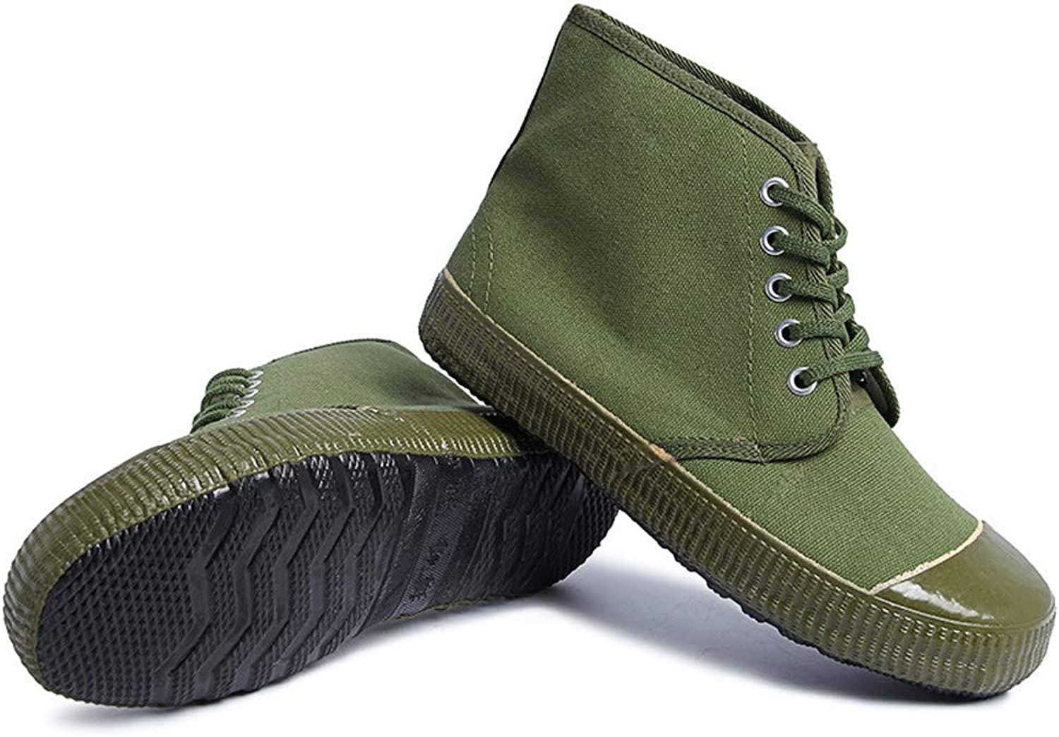 RcnryHigh grade canvas shoes, farm camouflage canvas rubber shoes, outdoor mountaineering, wear resistant, skid proof and breathable shoes.