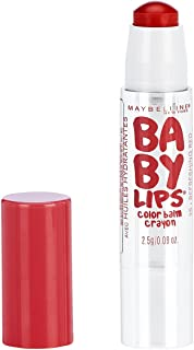 Maybelline New York Baby Lips Color Balm Crayon, Refreshing Red, 0.09 oz.