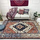 Vintage-Teppich, klassischer Ethno-Stil, für Wohnzimmer, Schlafzimmer, rutschfest und knitterfrei
