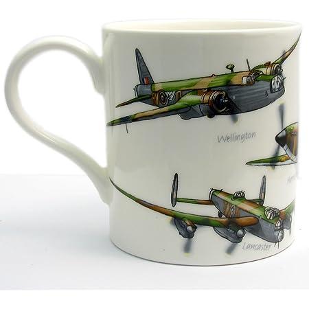 Classic Planes Fine China Mug by Leonardo – Hurricane Lancaster Spitfire Wellington Beaufort- Boxed
