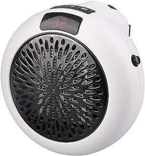 LQ&XL Calefactor Portátil Eléctrico Mini Silencioso Rápido de Elementos de Calefacción de PTC, Calentador de Escritorio Bajo Consumo de Energía de 1000 Vatiospara Baño Oficina Dormitorio,Blanco