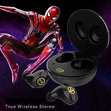 HUOQILIN Bluetooth Auricular Inalámbrico Deportes Binaural De Oreja Invisible (Color : Black)