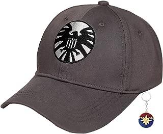 Captain Marvel Hat,Carol Danvers Hat Cap,Marvel Shield 2019 Hat for Women Men