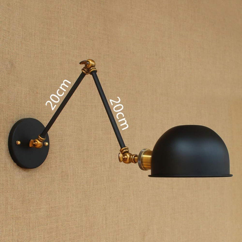 Schwarze lange teleskopische schwarze Wandlampe, klappbar, A