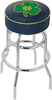 Shamrock 25 L8B2B Black Wrinkle Notre Dame Swivel Bar Stool with Accent Ring by The Holland Bar Stool Company