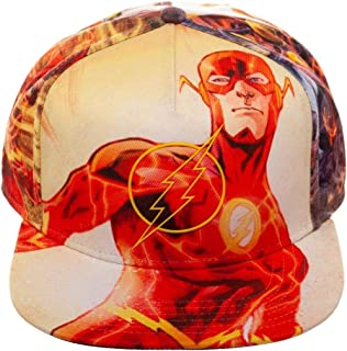 DC Comics The Flash Rubber Logo Sublimated All Over Print Snapback