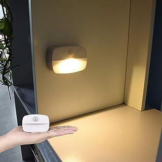 Shumo 6 LED D/étecteur de Mouvement PIR Veilleuse On//Off Automatique pour Chambre Escalier Armoire Armoire Lampe Murale Rechargeable USB C