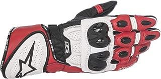 Alpinestars 3556517123L GP Plus R Leather Gloves (Black/White/Red, Large)