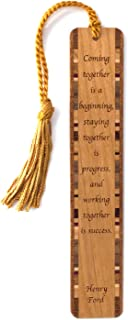 Quote About Success - Engraved Wooden Bookmark with Tassel - Search B07FB72STD to See Personalized Version
