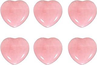 Heart Worry Stones lęk palma martwy kamień dla czakry leczniczy różowy kryształ kamień półszlachetny różowy kwarc różowy k...