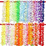 Gwhole 50 Pezzi Ghirlanda Hawaiana Collana Hawaii Hula Leis Fiori Multicolori Estivi