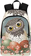 Easter Eggs Hatch Owlet Cute Owl Casual Daypack Travel Bag College School Backpack for Mens and Women