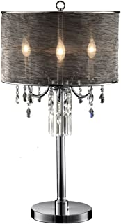 OK-5127t 32-Inch Classy Crystal Table Lamp
