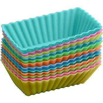 Bequemer Laden Confezione da 36 Stampini Pirottini da Forno in Silicone 6 Forme con 6 Vivaci Colori Silicone Stampi da Muffin