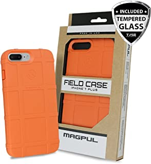 Case for iPhone 7 Plus / iPhone 8 Plus, with FREE TJS [Tempered Glass Screen Protector] Magpul [Field] MAG849 Polymer Cover Retail Packaging Compatible Apple iPhone 7 Plus/iPhone 8 Plus (Orange)