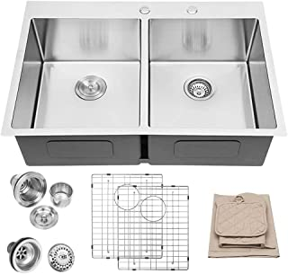 Best double kitchen sink plumbing with dishwasher Reviews