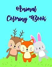 Animal Coloring Books: Fun and Cute Coloring Book for Children,Preschool,Kindergarten age 3-5 (animals in winter)