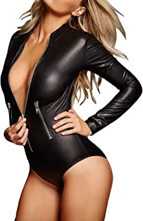 Womens Sexy Casual Party Work Bodysuit with Sleeves Jumpsuit Tops