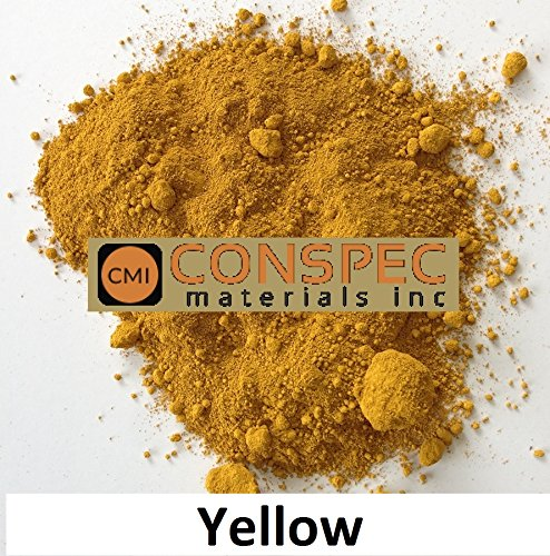 Conspec 2-oz JAR YELLOW Powdered Color for Concrete, Cement, Mortar, Grout, Plaster, Colorant, Pigment