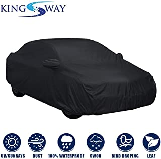 Kingsway Fully Waterproof Car Body Cover with Mirror Pockets for Maruti Suzuki Ciaz (Model Year : 2018 Onwards) (Non-Woven Fabric, Triple Stitched)
