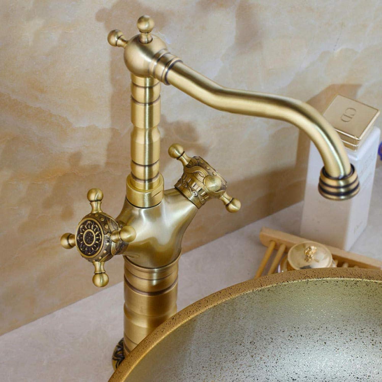 Hiwenr Elegante Antike Messing Waschbecken Wasserhhne Lange Kurze 360 Swivel Mischbatterien Vanity Messing Wasserhahn Mischbatterien
